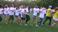 College and university student pep rally in Toronto on campus Stock Footage