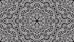 Seamless Abstract Tribal Black-White Pattern. Hand Drawn Ethnic Texture. Vect Stock Illustration