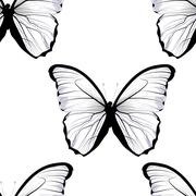 Seamless tiling repeating butterfly pattern Stock Illustration
