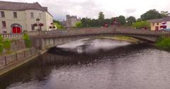 Aerial footage of Castle in Kilkenny, Ireland Stock Footage