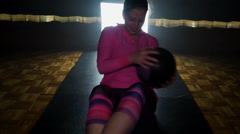Working the weight ball Stock Footage