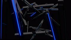 Neon Burst Fly 4K Vj Loop 05 Stock Footage