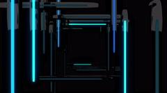 Neon Flash Tunnel 4K Seamless Vj Loop 02 - stock footage