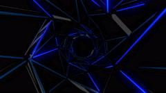 Neon Web Tunnel 4K Vj Loop 04 - stock footage
