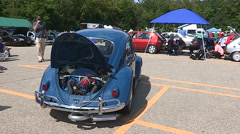 VW volkswagen classic car show in Kitchener Canada Stock Footage