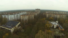 Pripyat. Abandoned houses. Aerial view. Stock Footage