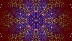 Kaleidoscope Abstract Background Forming Amazing Organic Shapes Stock Footage