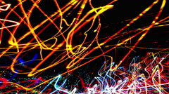 Long Exposure of  Lights at Night - Experimental Video Stock Footage