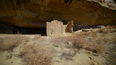 Stock Video Footage of 2axis Motion Control Time Lapse of Native American Ruin in Moon Light -Zoom In-
