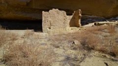 2axis Motion Control Time Lapse of Native American Ruin in Moon Light -Zoom Out- Stock Footage