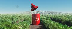 Tea plantation Stock Illustration