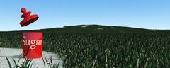 Sugar cane plantation Stock Illustration