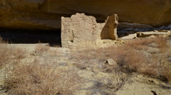 2axis Motion Control Time Lapse of Native American Ruin in Moon Light -Long Shot Stock Footage