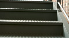 View of empty metal stairs Stock Footage