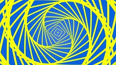 Geometric abstract looping squares motion background  blue yellow Stock Footage