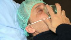 Man with oxygen mask 2 Stock Footage