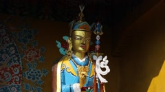 One of the companions of the Buddha (or one of his incarnations?) - stock footage