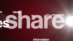 Social media background text 4K red Stock Footage