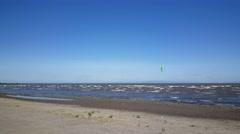 Kite surfer at lake Nicaragua - stock footage