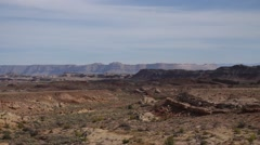 Pan across mountains in Southern Utah Stock Footage