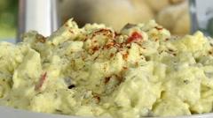 Bowl of potato salad Stock Footage