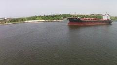 Drone aerial Havana Bay, Cuba Daytime Stock Footage