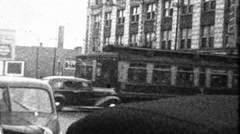 Busy Chicago Street Scene Great Depression 1930s Vintage Film Home Movie 8894 Stock Footage