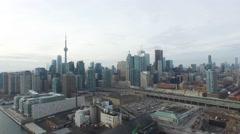 Toronto City Skyline Aerial  Stock Footage
