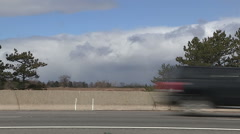 massive snow squall and snowstorm clouds approaching - stock footage