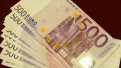 Euro money cash Stock Footage