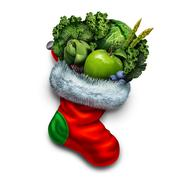 Healthy Holiday Eating - stock illustration