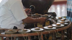 Khong wong yai percussion instrument being played,Siem Reap,Cambodia Stock Footage