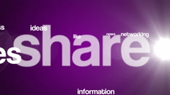 Social media background text 4K purple Stock Footage