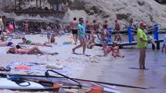 Beach . Sharm el-Sheikh. Egypt . Red sea . April 2014. Stock Footage