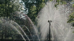 """ST. PETERSBURG, RUSSIA-JULY 24,2015: Fountain """"The Sun"""" in the Lower Park of Stock Footage"""