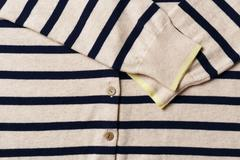 Blue stripe cardigan with sleeve  texture background - stock photo
