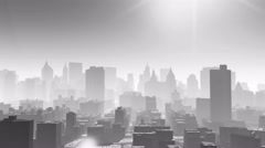 4k Aerial view of urban building,flying through NewYork,architecture silhouette Stock Footage