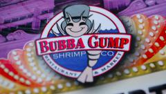 Bubba Gump Shrimp Menu - stock footage