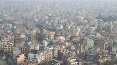 View to Kathmandu Stock Footage