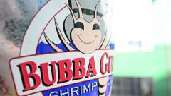 Bubba Gump Shrimp Bucket - stock footage