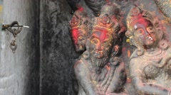 Ancient idols and incense Stock Footage