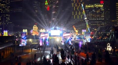 AIA Great European Carnival funfair, Hong Kong, China. - stock footage