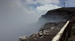 Volcano Masaya in Nicaragua Cross Stock Footage