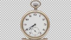 Cut out pocket watch timelapse Stock Footage