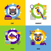 Stock Illustration of Veterinary Design Concept Set