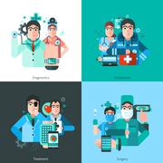 Doctor Character 2x2 Images - stock illustration