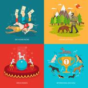Stock Illustration of Dog concept set