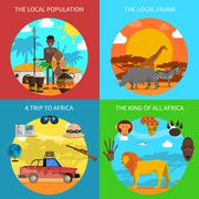 Safari Concept Set Stock Illustration