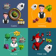 Casino 2x2 Compositions Set Piirros