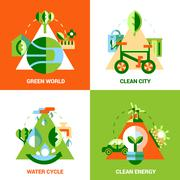 Stock Illustration of Ecology Design Concept Set